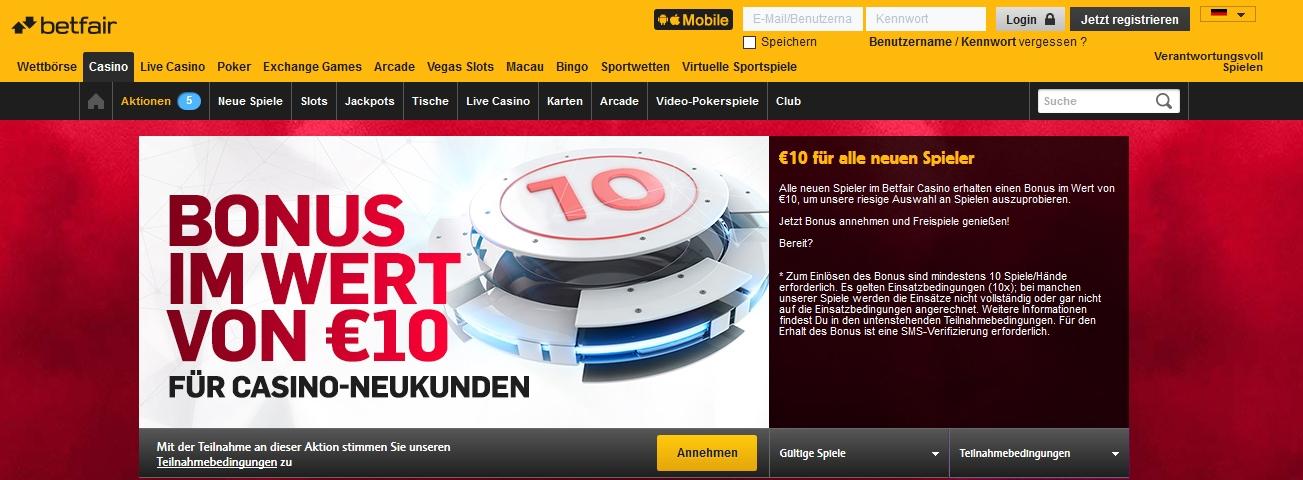10 euro Bonus 527348