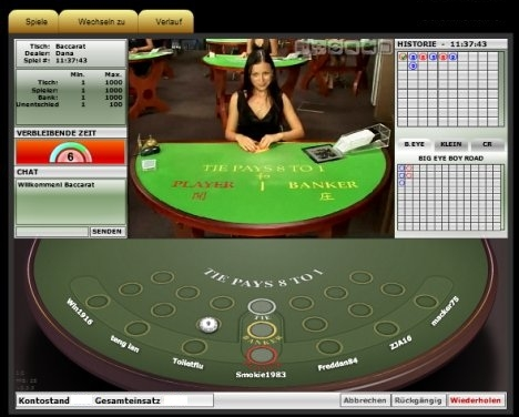Roulette online Baccara 456774